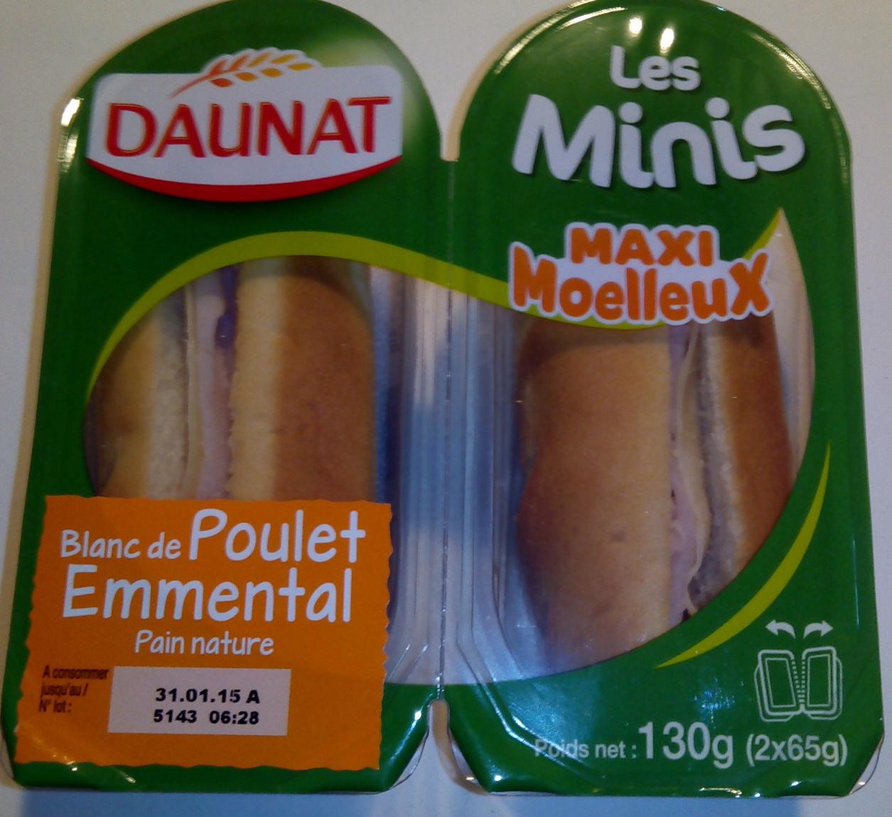 Les minis maxi moelleux blanc de poulet emmental daunat - Cuisiner des blancs de poulet moelleux ...