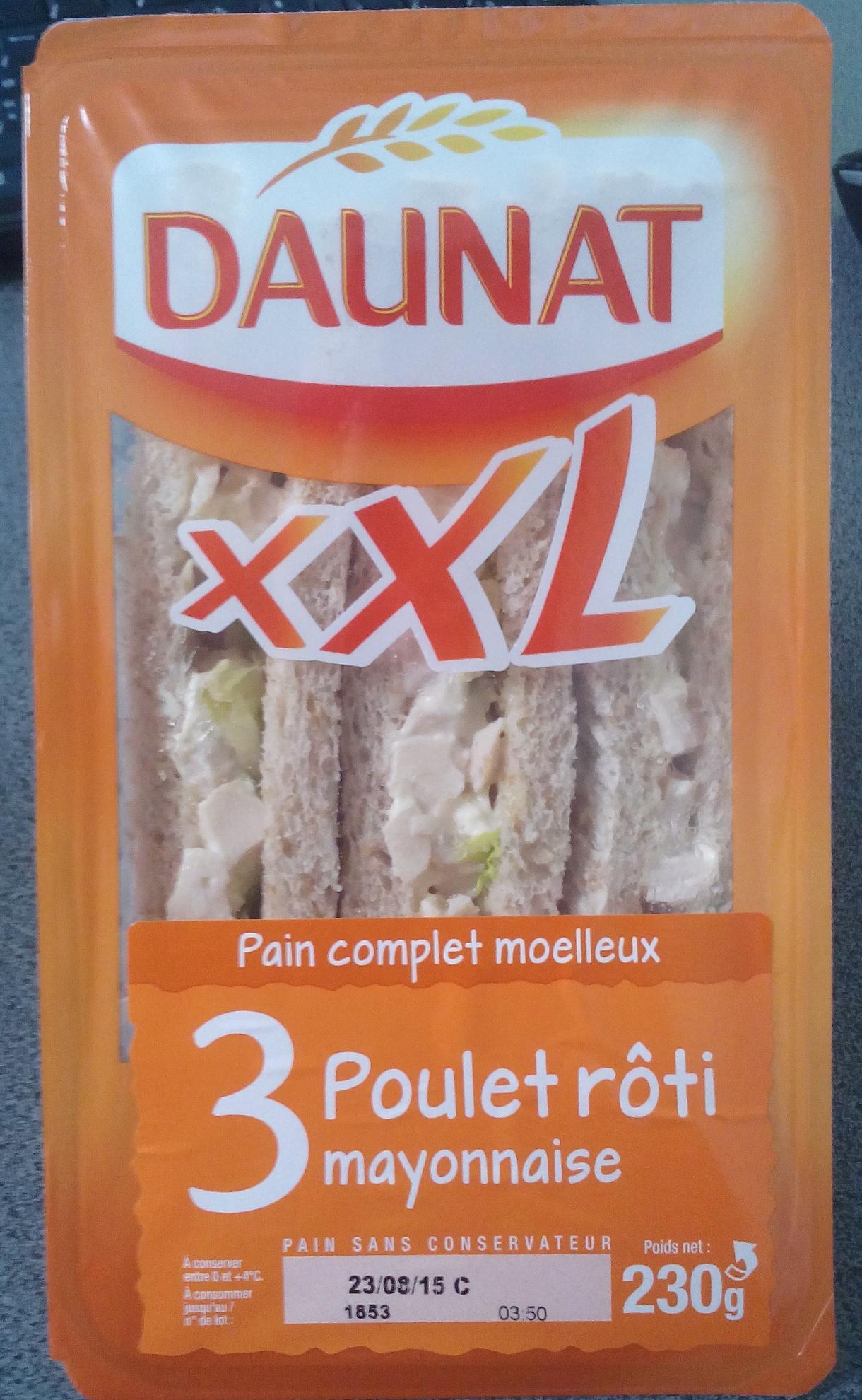 XXL poulet rôti et mayonnaise (3 parts) - Product