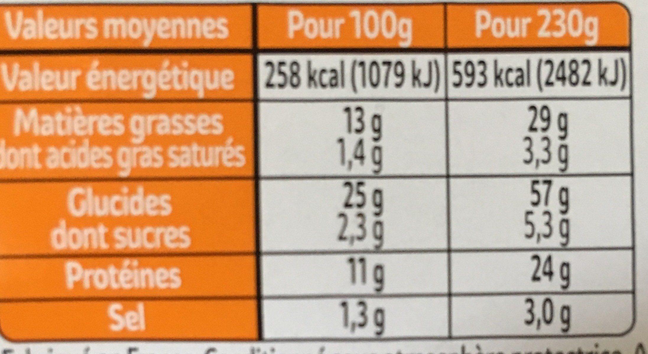 XXL poulet rôti et mayonnaise (3 parts) - Voedingswaarden