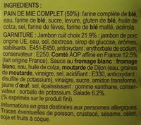 Jambon Comté A.O.P - Ingredients