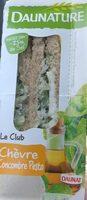 Club Sandwich chèvre concombre sauce basilic - Produit - fr