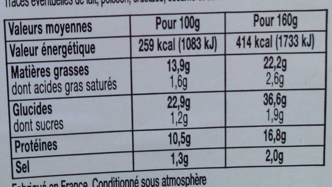 Plaisir vrai! Poulet rôti Mayonnaise - Informations nutritionnelles - fr