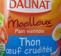 Le Moelleux Pain viennois Thon oeuf crudités Sauce cocktail - Produit