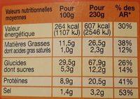 Le moelleux, Pain viennois, Jambon Oeuf Crudités Mayonnaise - Informations nutritionnelles - fr