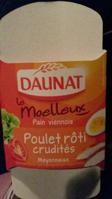 Le moelleux Poulet rôti Crudités Mayonnaise - Produit - fr
