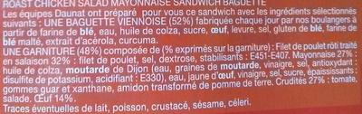 Le moelleux Poulet rôti Crudités Mayonnaise - Ingrédients - fr