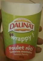 Be Wrappy poulet rôti, tomates marinées, sauce pesto - Product - fr