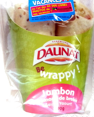 Be Wrappy Jambon - Fromage de brebis, Sauce Yaourt - Produit - fr