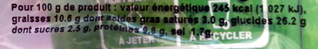 Be Wrappy Jambon - Fromage de brebis, Sauce Yaourt - Informations nutritionnelles - fr