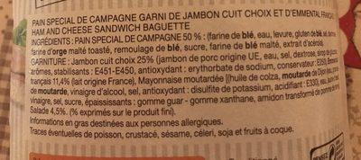 Le Goûteux Jambon Emmental - Ingredients