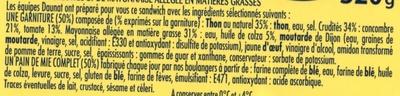 XXL 3 thon crudités + 1 gratuit - Ingrediënten - fr