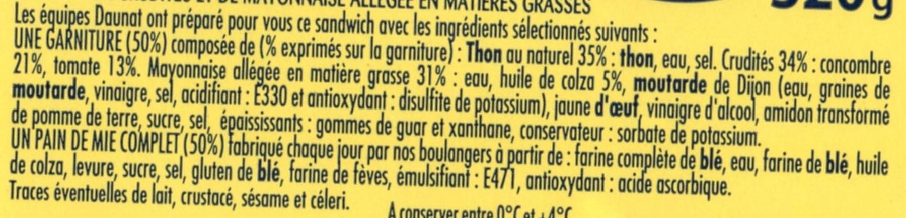XXL 3 thon crudités + 1 gratuit - Ingrédients - fr