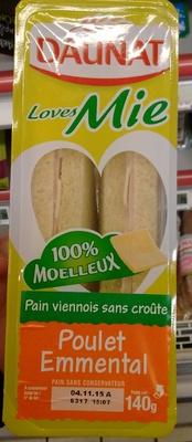 Loves Mie - Poulet Emmental Pain viennois sans croûte - Product - fr