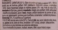 Loves Mie - Poulet Emmental Pain viennois sans croûte - Ingredients - fr