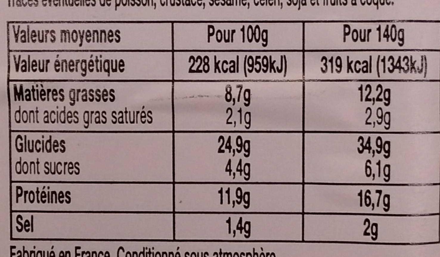 Loves Mie - Poulet Emmental Pain viennois sans croûte - Nutrition facts - fr