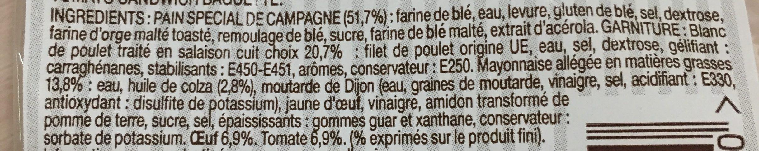 Poulet ?uf Tomate Le Gouteux - Ingrediënten - fr