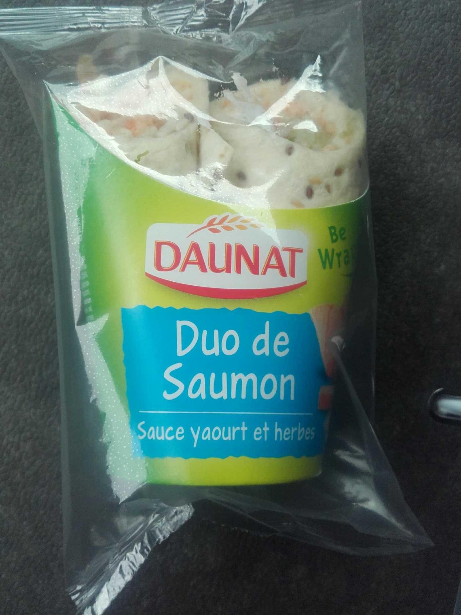 wrap duo de saumon sauce yaourt et herbes daunat 190 g. Black Bedroom Furniture Sets. Home Design Ideas