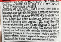 Le Club Classique Rosette de Lyon - Ingrédients - fr