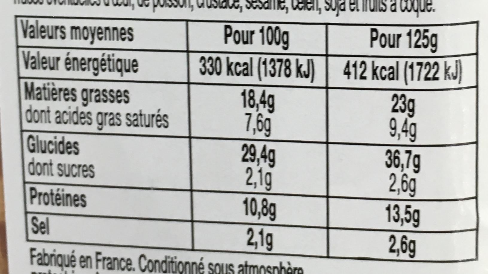 Le Club Classique Rosette de Lyon - Informations nutritionnelles - fr