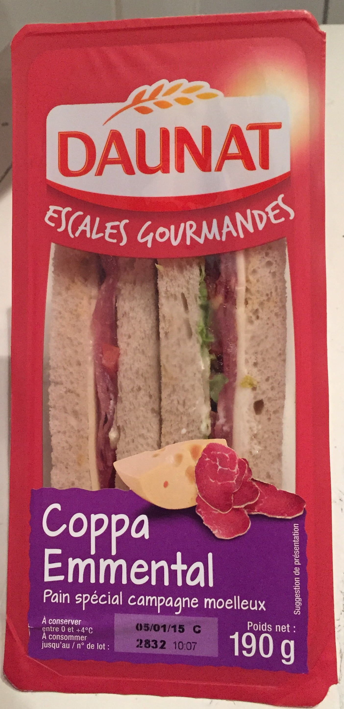 Escales Gourmandes Coppa Emmental - Product