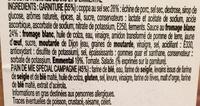 Escales Gourmandes Coppa Emmental - Ingrediënten