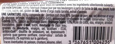 Les Petits Gourmands Jambon Comté A.O.P. - Ingrédients - fr