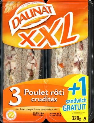 XXL 3 poulet roti crudités + 1 gratuit - Product