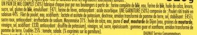 XXL 3 poulet roti crudités + 1 gratuit - Ingrédients