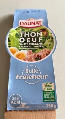 Thon œuf sauce cocktail salade et tomates - Product