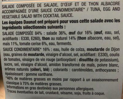 Thon œuf sauce cocktail salade et tomates - Ingredients