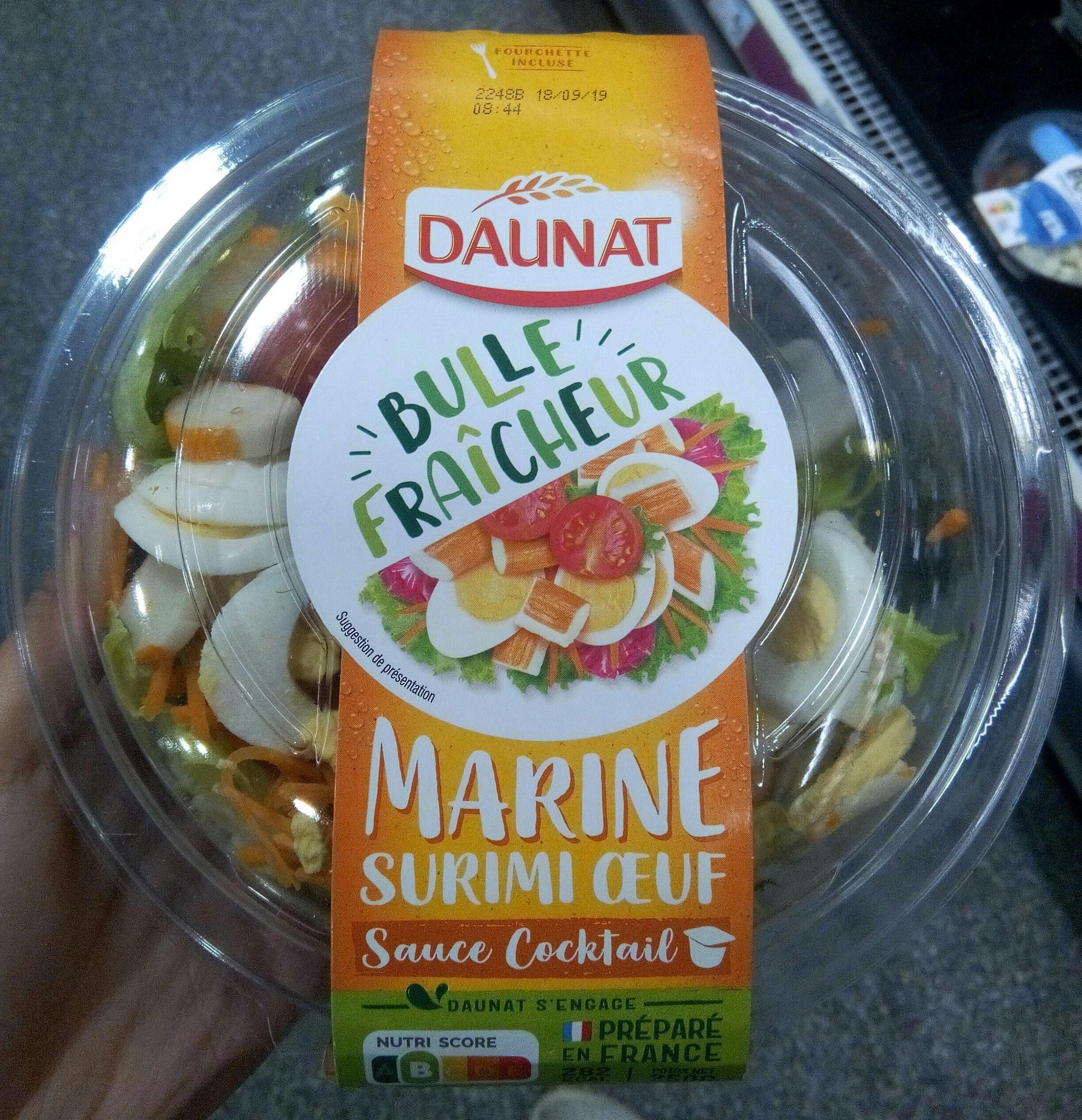 Salade surimi oeuf sauce cocktail salade & crudités - Product