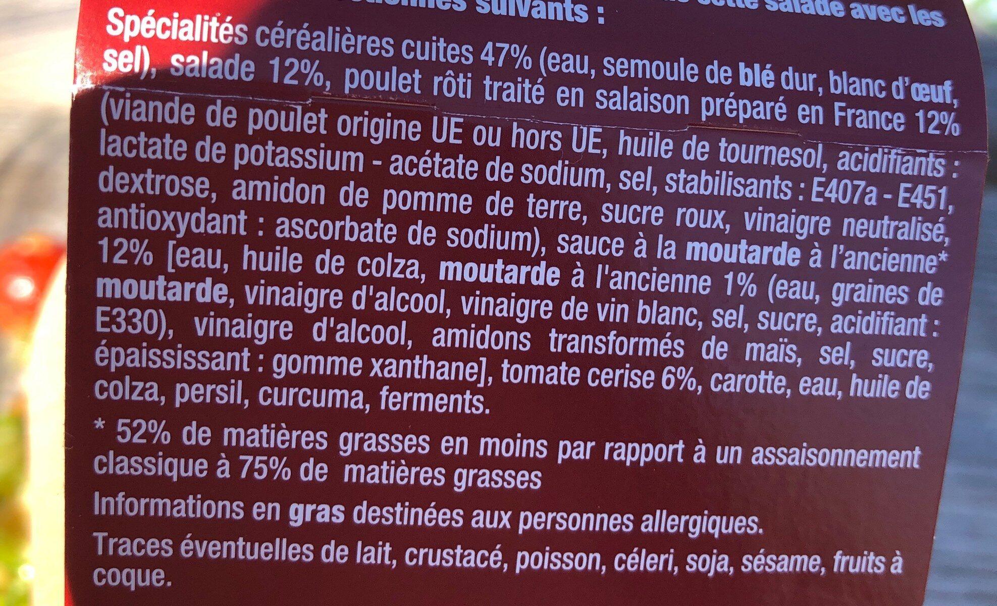 Poulet rôti Torsades cuisinées & Sauce Moutarde à l'Ancienne - Ingrediënten