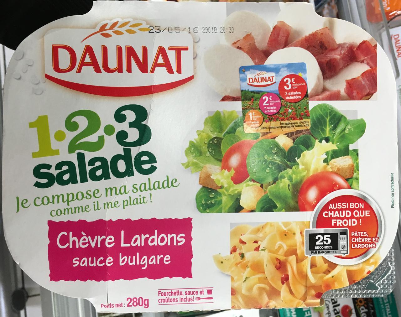 1-2-3 Salade Chèvre Lardons sauce bulgare - Produit