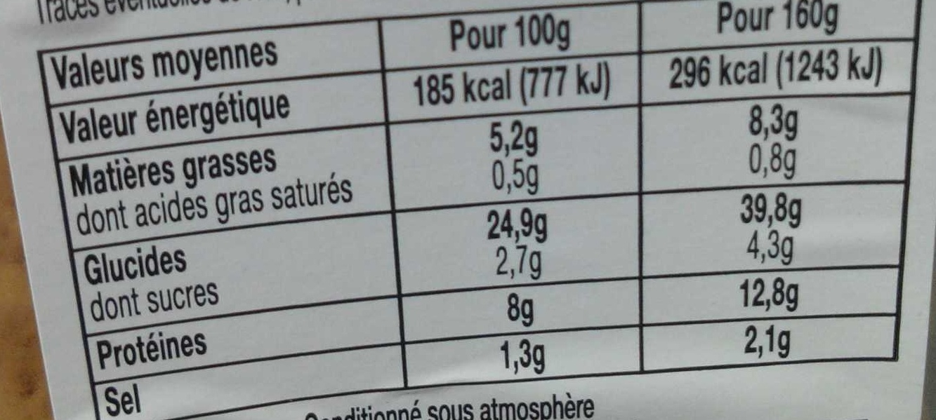 Le Club classique pain complet Poulet rôti crudités - Informations nutritionnelles - fr