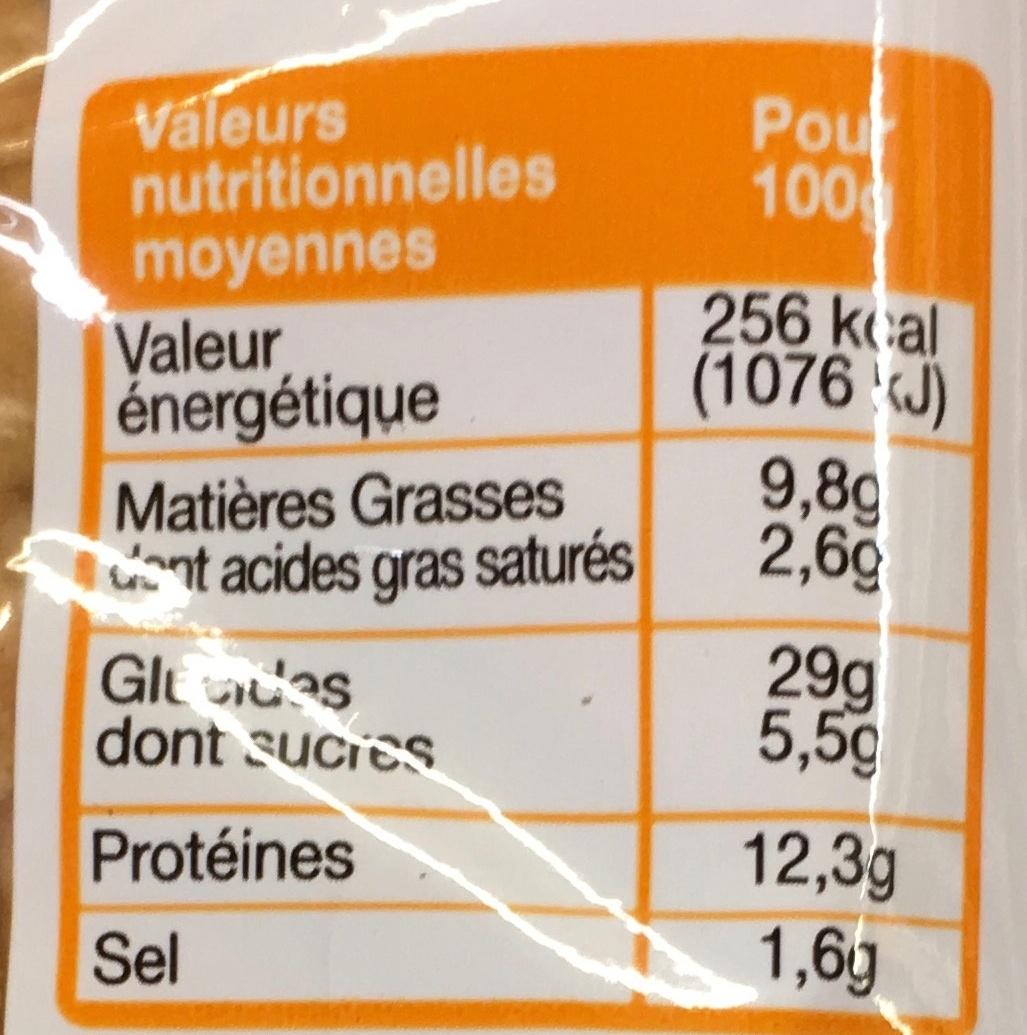Pocket's Poulet Emmental - Voedingswaarden - fr