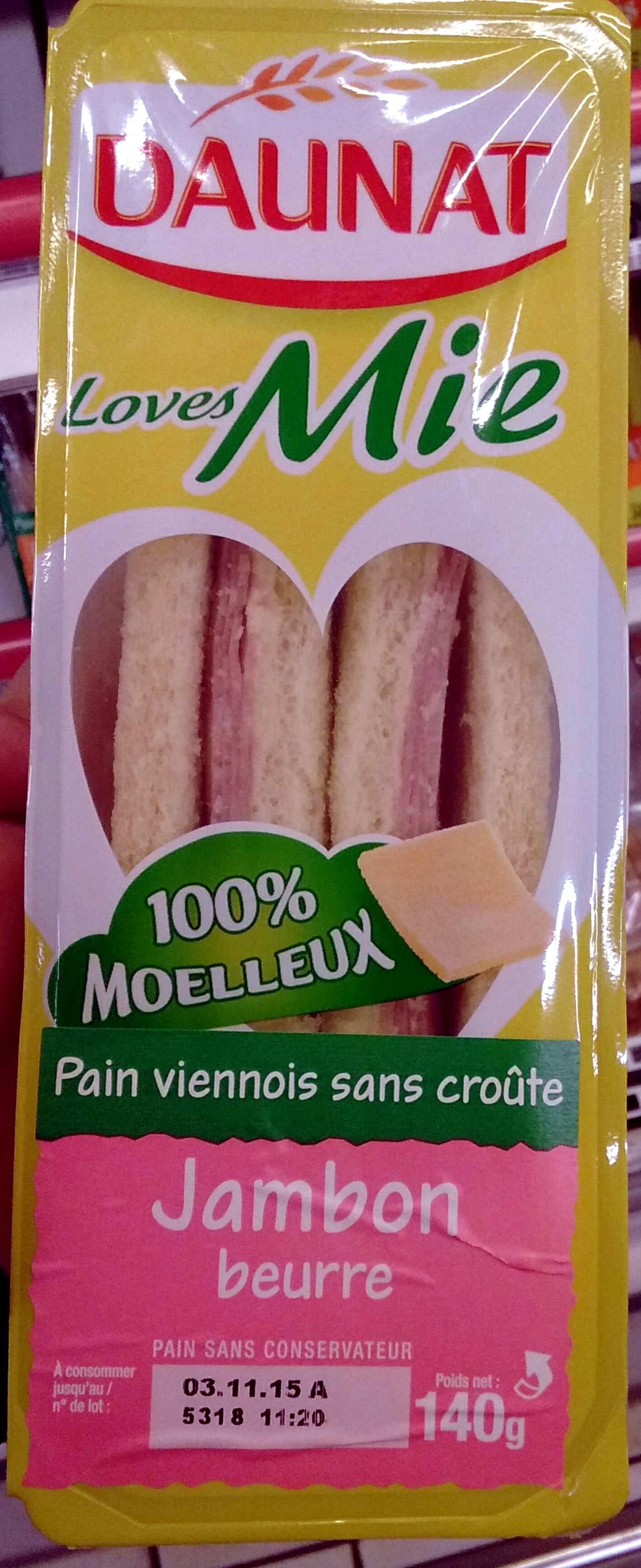 Loves Mie Jambon Beurre - Produit - fr