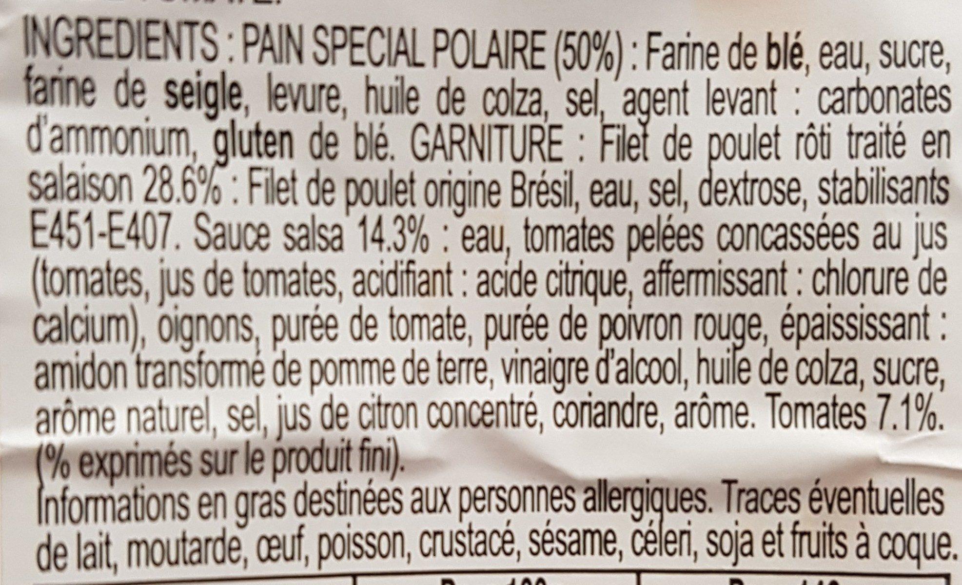 Le Club Suédois Poulet Rôti sauce Salsa - Ingredients