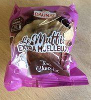 Muffin au chocolat et pépites de chocolat DAUNAT - Produit