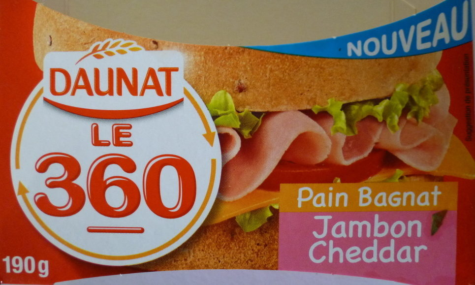 Le 360 Jambon Cheddar Sauce Burger - Product