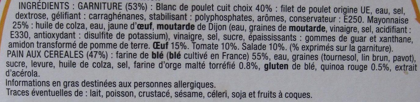 Le Savoureux Poulet Œuf Mayonnaise - Ingrédients