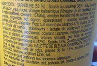 Wrap Porc Caramel - Ingrediënten - fr