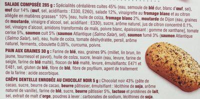 Ma salade Bistrot Pates Saumon Oeuf - Ingredients - fr