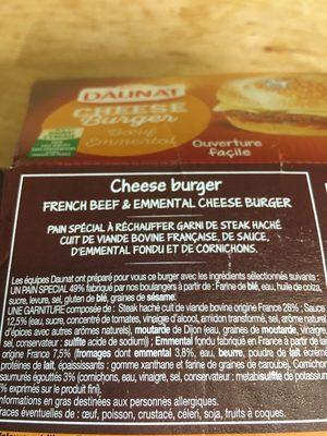 Cheese burger - Ingrediënten - fr