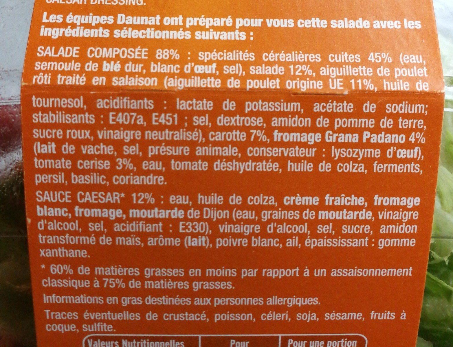 La Caesar poulet grana padano - Ingrédients - fr