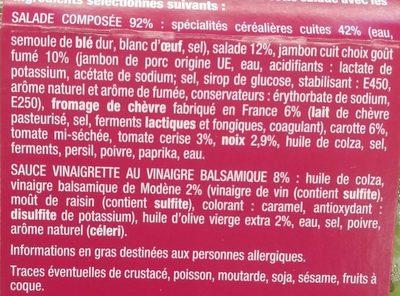 La bergere jambon chevre noix - Ingrédients