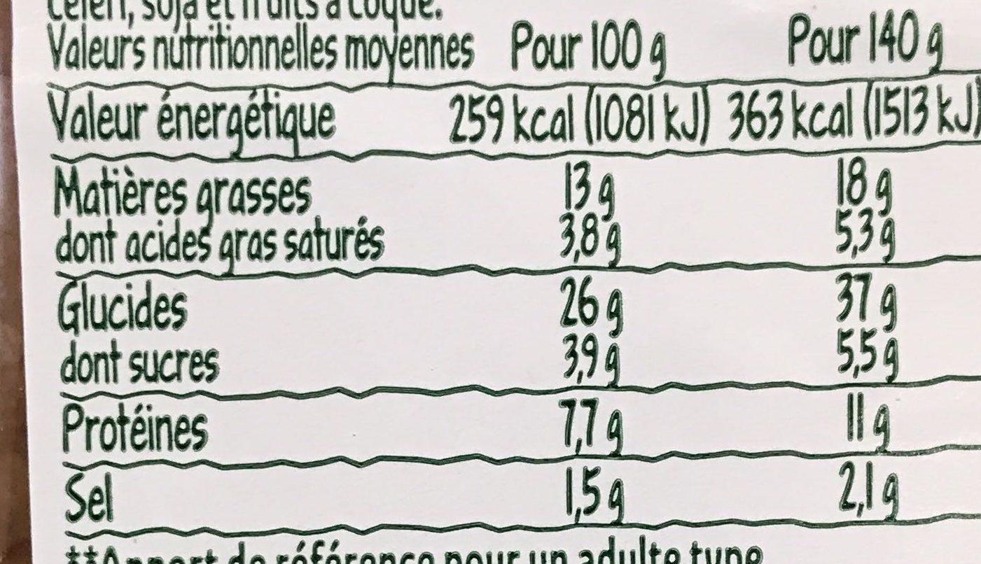 Le Club Bio Féta AOP & se légumes - Informations nutritionnelles - fr