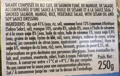 Poke bowl saumon - Ingredients