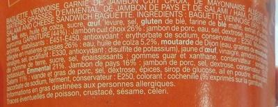 Le Moelleux Pain viennois Jambon - Ingrédients
