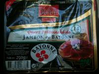 Quart prétranché de jambon de bayonne - Product