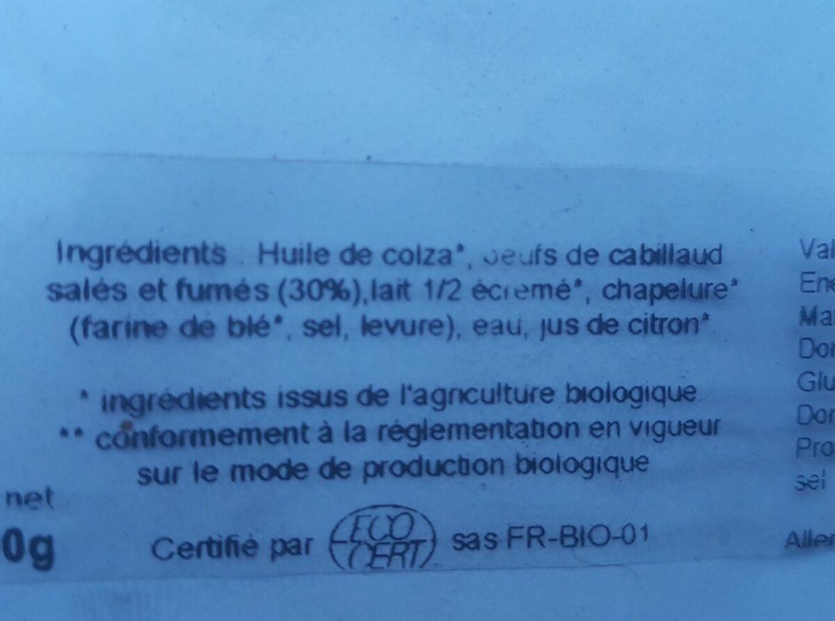 Tarama blanc - Ingrédients - fr